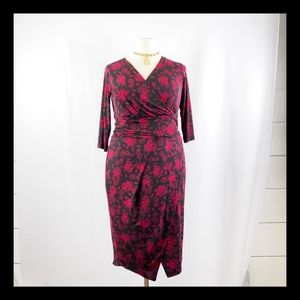 RACHEL RACHEL ROY Faux Wrap Midi Dress NWT SZ 0X